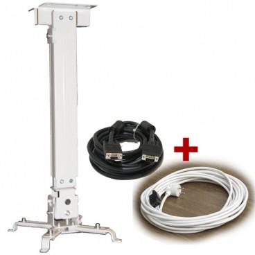 Zestaw do montażu - uchwyt 43-65 + kabel VGA i zasilający 15m