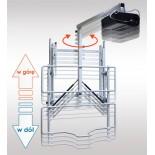 Uchwyt ścienny do tablicy z regulowaną wysokością i wysięgnikiem do projektora uVIS-RW100